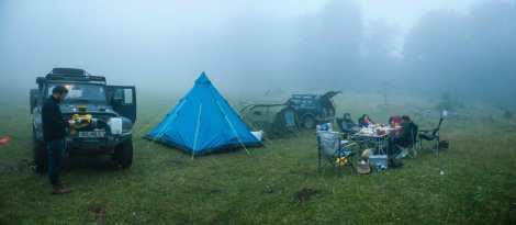 Suva planina - camping in the rain