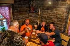 Home made beer in Dojkinci. Cheers!