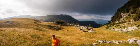 Our campsite near Ružica
