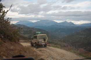 On the mountain roads of south Albania