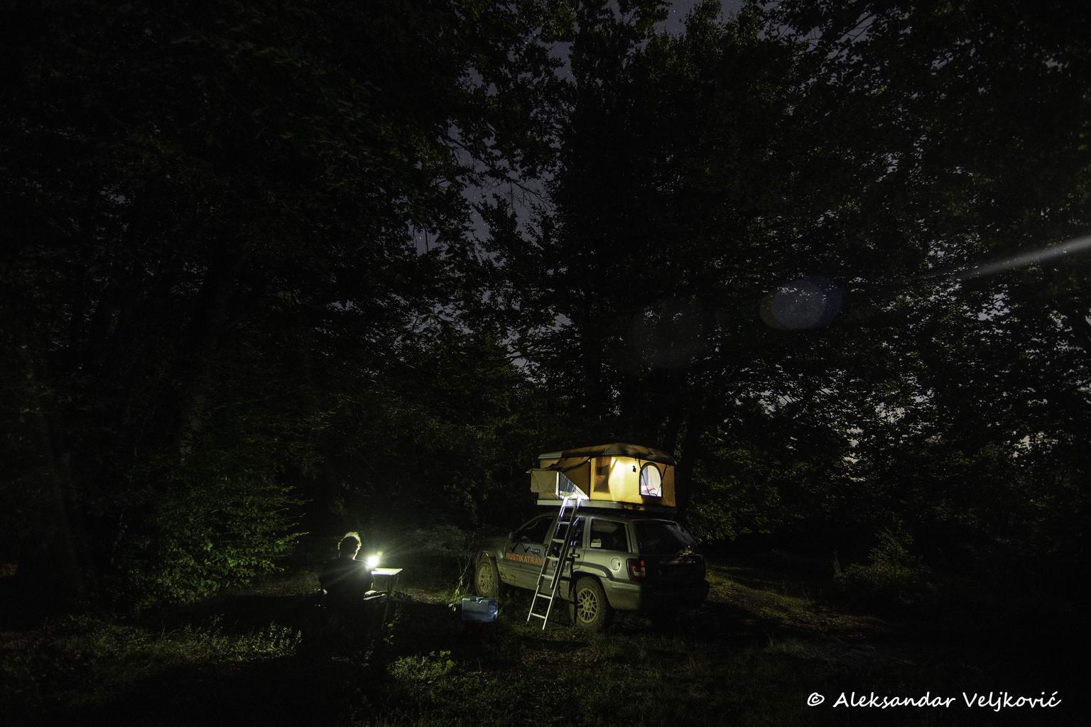 Camping on the western ridge of Rtanj
