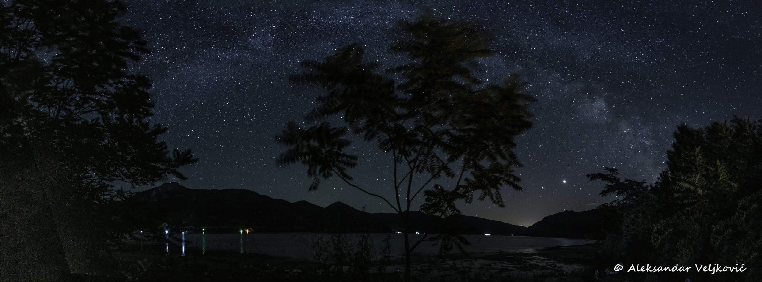 The magic of the night on Danube riverbank
