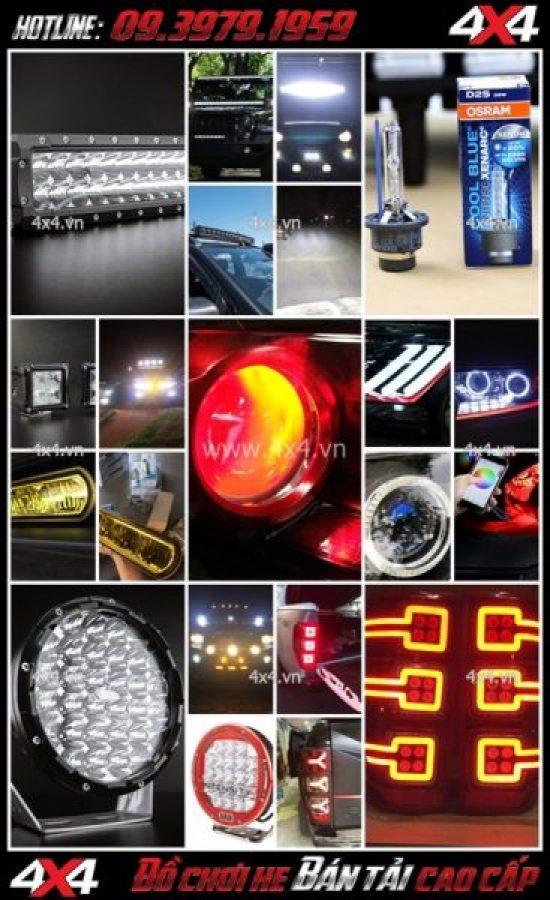 Tổng hợp các mẫu đèn độ xe ô tô xe bán tải đẹp, giá rẻ 2018 2019
