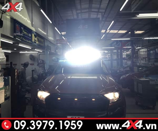 Đèn led bar Novaled siêu sáng gắn nóc xe cho bán tải Ford Ranger