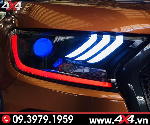 Độ đèn Ford Ranger: Đèn trước Ford Mustang đẹp và nổi bật cho xe bán tải