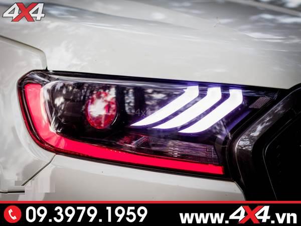 Độ đèn Ford Ranger: Cụm đèn trước cực đẹp độ đẹp theo kiểu Ford Mustang
