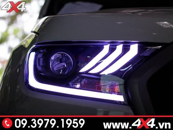 Độ đèn Ford Ranger: Cụm đèn Ford Mustang độ xe Ford Ranger đẹp, sang và chất