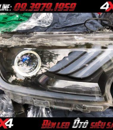 Đèn mắt quỷ đổi màu bằng app điện thoại đẹp và chất cho xe ô tô xe bán tải ở Sài gòn