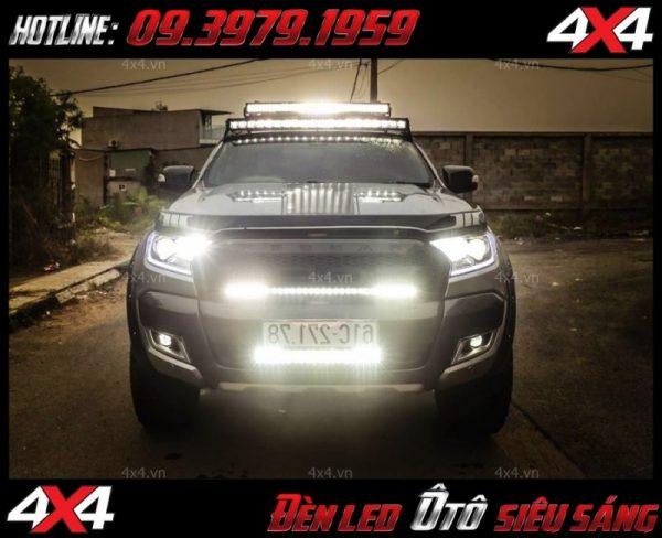 Đèn led bar là phụ kiện không thể thiếu để giúp soi sáng cho xe bán tải, xe 4 bánh vào ban đêm