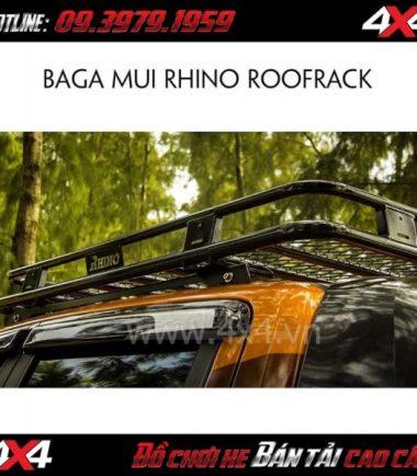 Ba ga mui RHINO ROOF RACK độ đẹp cho Ford Ranger tại HCM