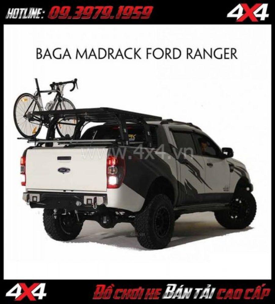 Baga thùng sau KSC MADRACK cứng cáp, chất lượng, giá tốt cho xe Ford Ranger 2018 2019