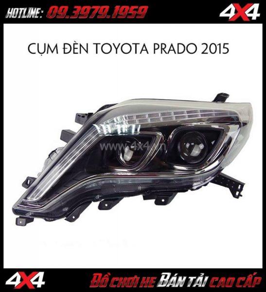 Image Cụm đèn pha dành độ cho xe Toyota Prado đời 2015 ở HCM