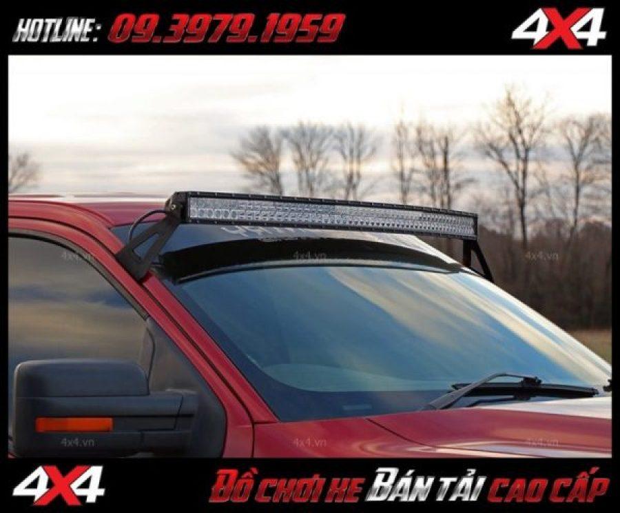 Led bar cho xe offroad: Đèn led bar 10D trang trí đẹp và tăng sáng cho Ford Ranger