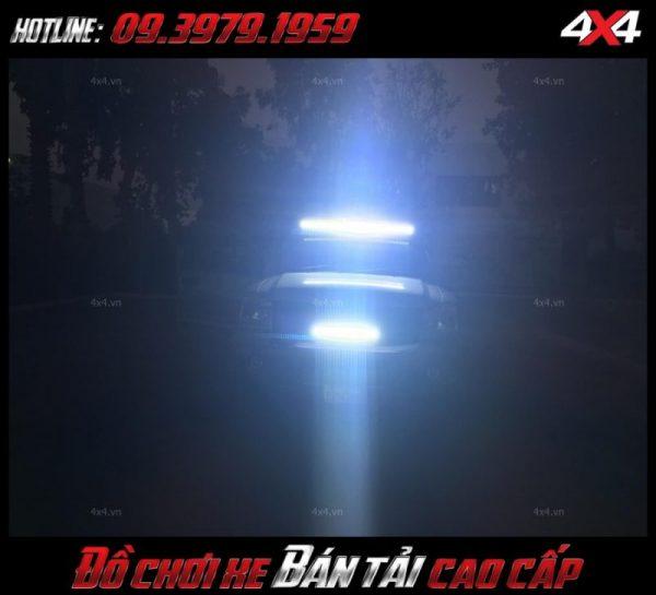 Bức ảnh led bar <strong>độ đèn Ford Ranger</strong>: Chiếc bán tải với đèn led bar khá sáng độ đẳng cấp và chất