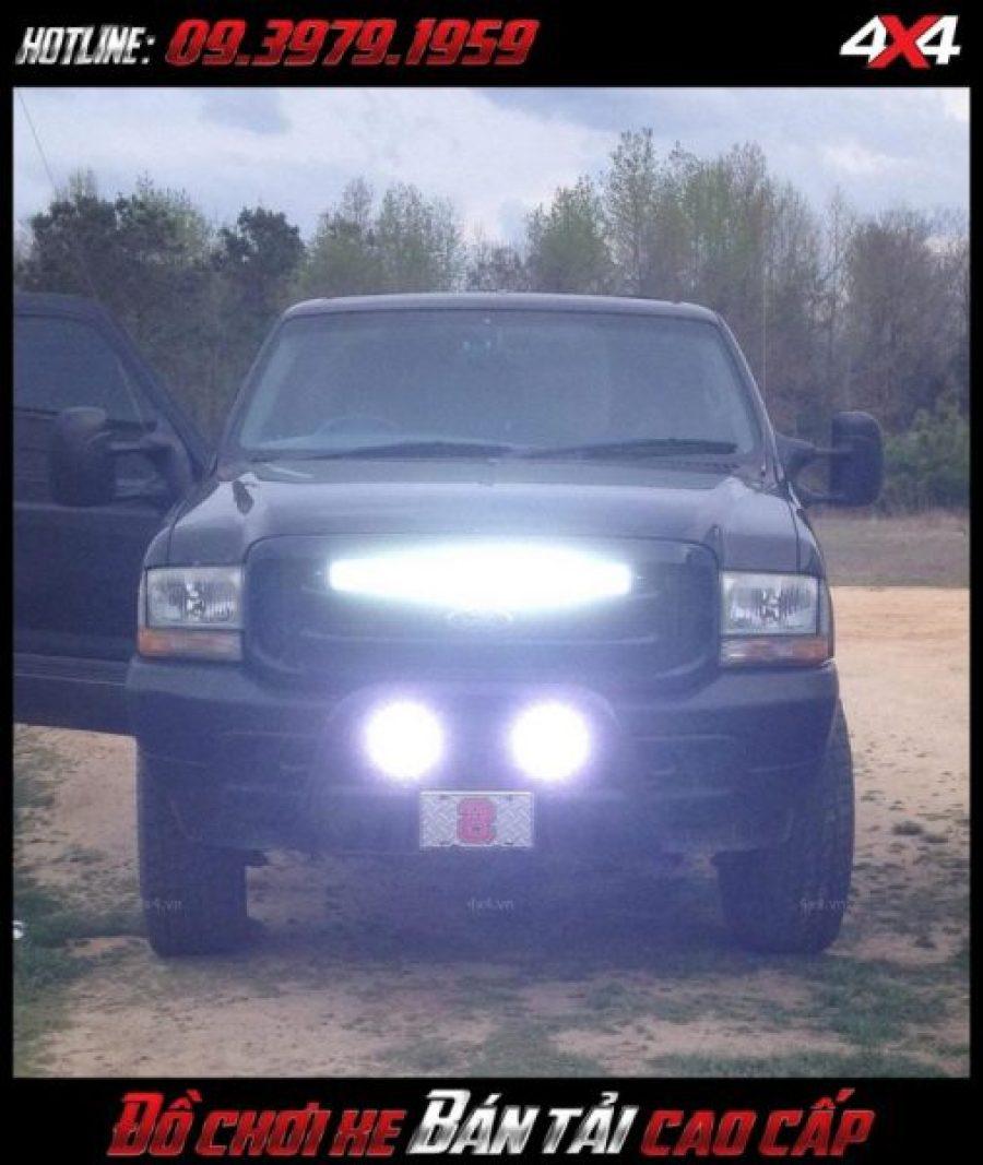 Photo led bar <strong>độ đèn Ford Ranger</strong>Led bar <strong>độ đèn Ford Ranger</strong>: mẫu đèn led rất sáng giúp trợ sáng cho xe Ford Ranger vào ban đêm