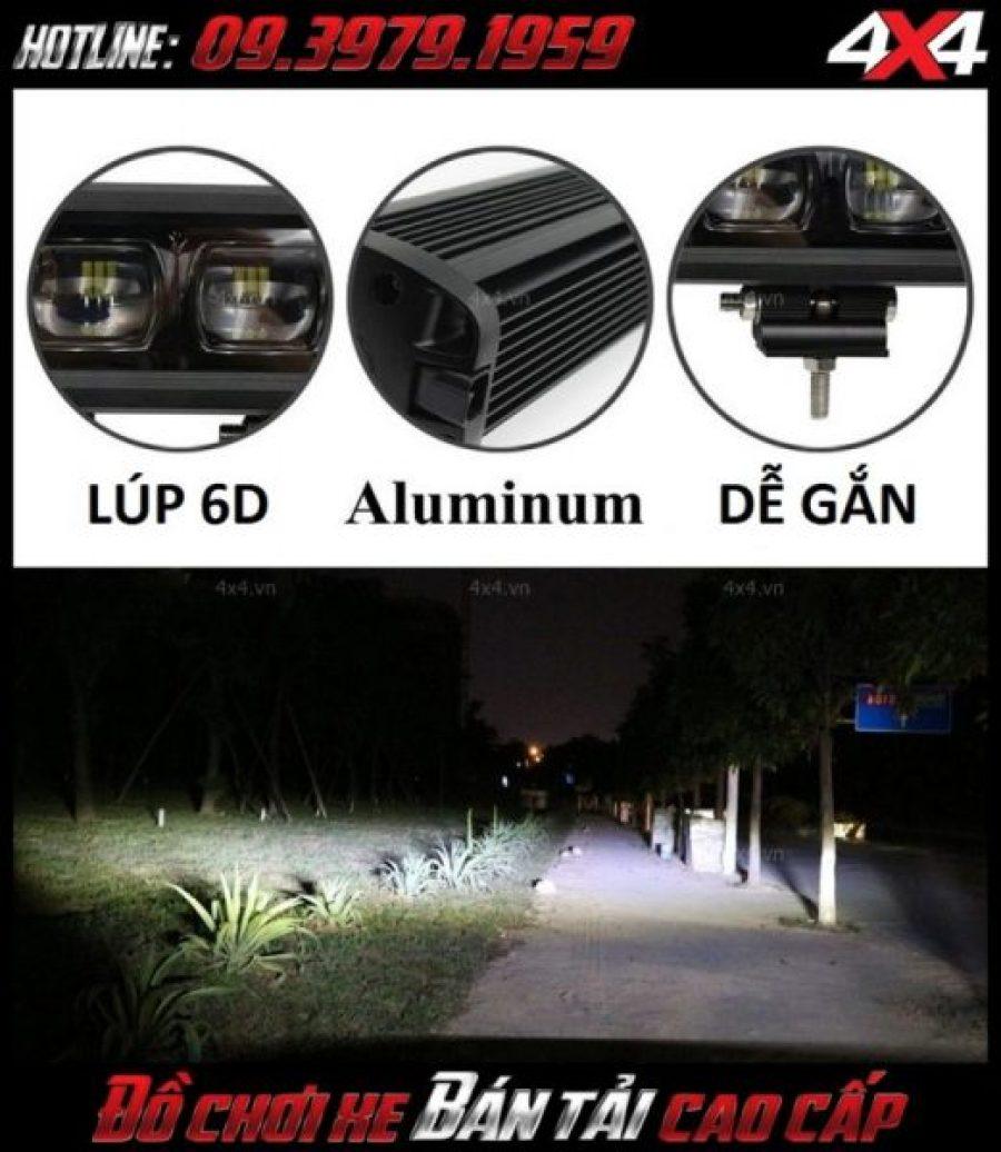 Đèn led bar 6D siêu sáng dễ lắp, bền và giá thành rẻ thích hợp độ cho xe Ford Ranger