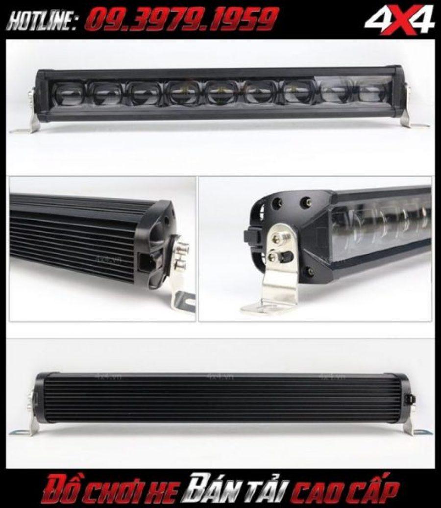 Photo đèn led bar ô tô, đèn led bar xe bán tải: Chi tiết đèn led bar 6D độ cho xe ô tô xe bán tải Ford Ranger tại HCM