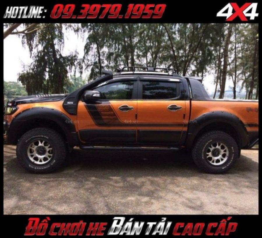 Picture đèn độ xe bán tải: Xe bán tải Ranger Raptor đẹp và chất với vè che mưa xe hơi Ford Ranger