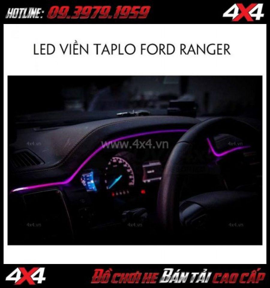 Picture: Viền led taplo đổi màu bằng điện thoại dành cho xe bán tải Ford Ranger