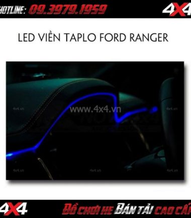 Tấm ảnh Viền led taplo đổi màu bằng điện thoại dành cho xe bán tải Ford Ranger 2018 2019