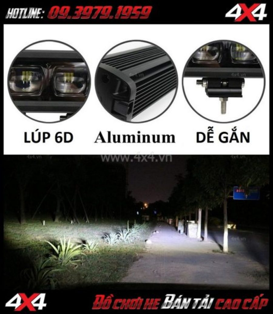 Bức ảnh Đèn led bar 6D trợ sáng và lắp đẹp cho xe off-road Ford Ranger ở TpHCM