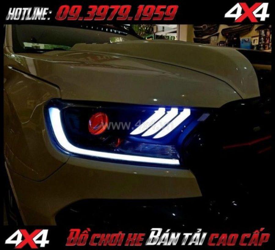 Bức ảnh: Combo Đèn mắt quỷ, mí led, vòng Angel eyes mẫu Ford Mustang 3D thay đẹp và đẹp cho xe pick up Ford Ranger 2018 2019 tại Tp Hồ Chí Minh