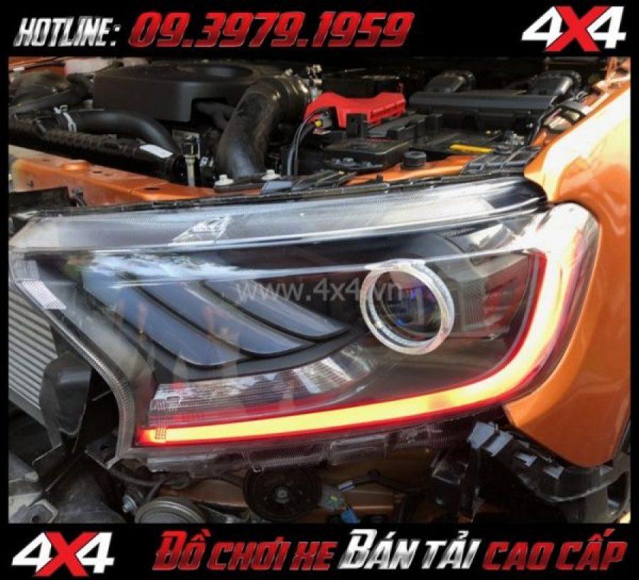 Image: Combo Đèn mắt quỷ, mí led, vòng Angel eyes mẫu Ford Mustang 3D độ đẹp và nổi bật cho xe bán tải Ford Ranger 2019 2018 tại TpHCM