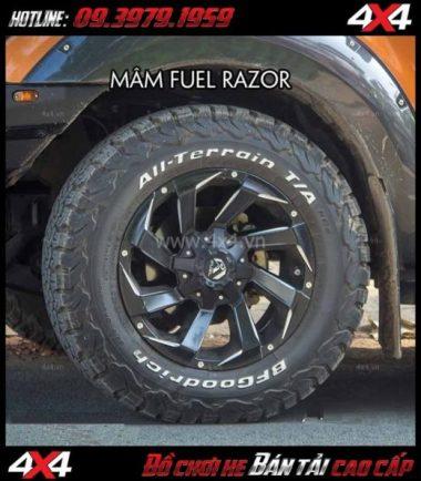 Tấm ảnh bán mâm 18 inch Mâm Fuel RAZOR D592 nổi bật, đẳng cấp độ thể thao cho ô tô xe off-road