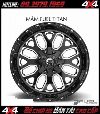 Tấm ảnh: Mâm xe hơi cứng cáp: Mâm Fuel One Piece Titan D588 20 Inch dành cho xe bán tải và SUV tại TpHCM