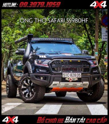 Hình ảnh: Ống thở Safari dành cho xe bán tải Ford Ranger 2019 Wildtrack và XLT