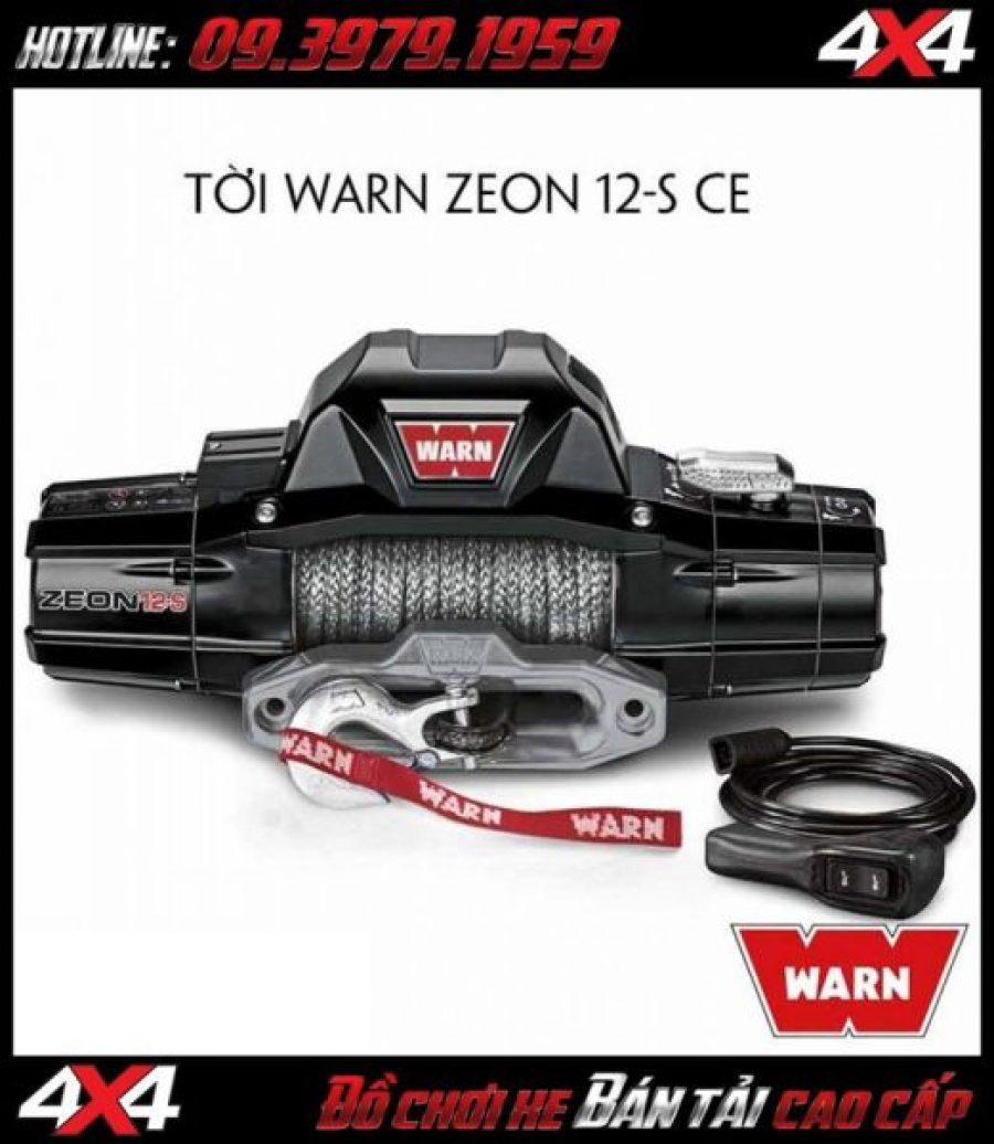 Tấm ảnh: Tời điện WARN ZEON 12-S CE dùng để cứu hộ cho xe khi mắc lầy
