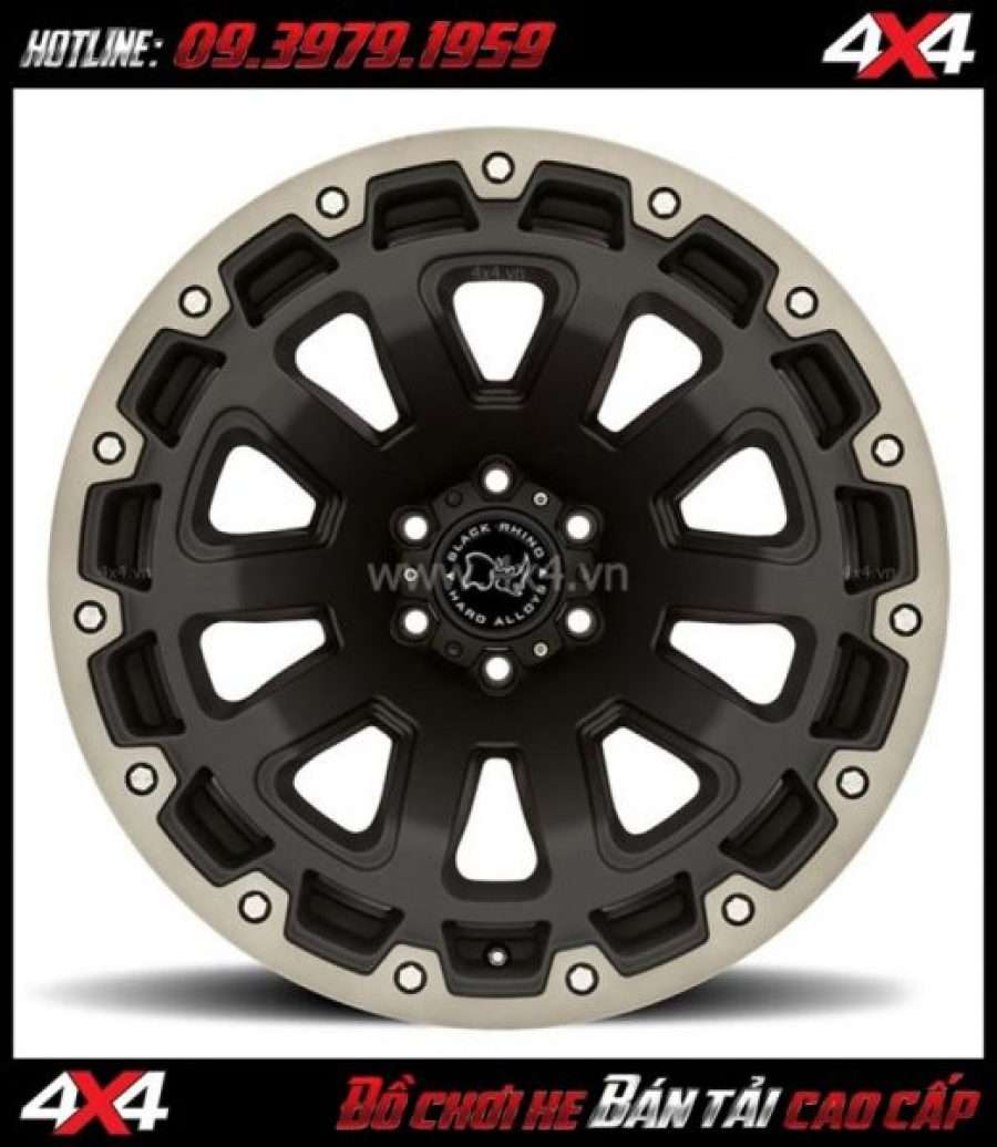 Photo bán mâm 18 inch: : Mâm Black Rhino Razorback 18x9 ET-12 độ đẹp cho xe 4 bánh xe bán tải