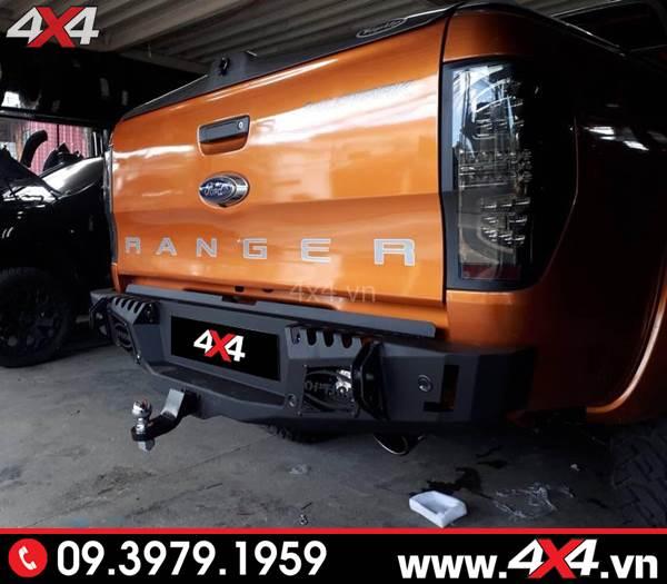 Đồ chơi xe Ford Ranger: Xe bán tải Ford Ranger độ cản sau Option 4wd đẹp và cứng cáp