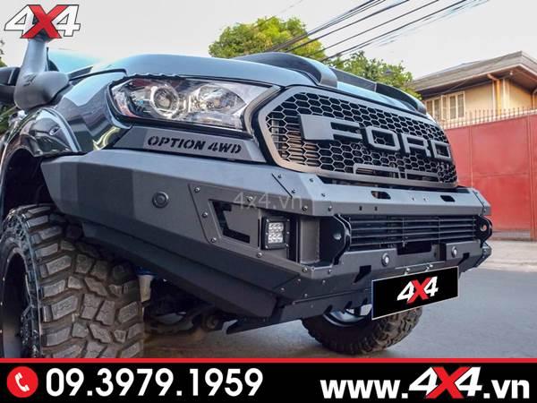 Đồ chơi xe Ford Ranger: Mẫu cản trước 4wd loại không mặt nạ độ đẹp, cứng cáp và hầm hố cho xe bán tải