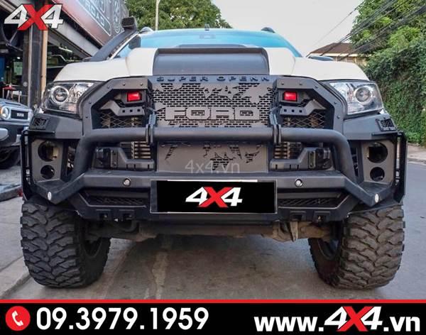 Đồ chơi xe Ford Ranger: Xe bán tải độ đẹp và hầm hố với cản trước Super Open N