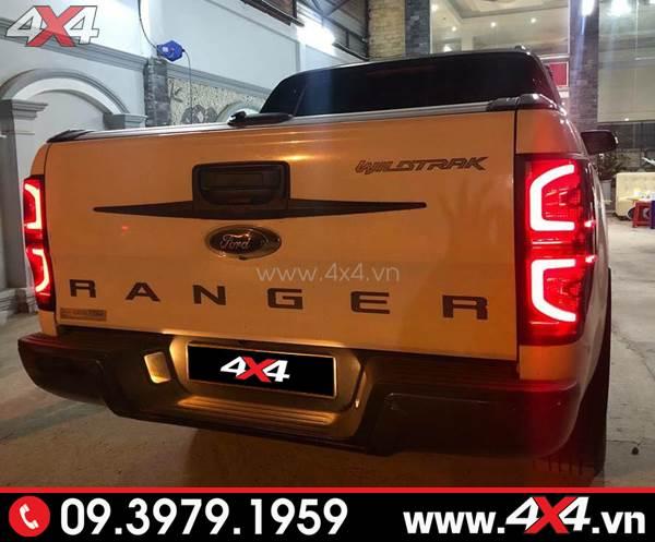 Đồ chơi xe Ford Ranger - Đèn hậu độ kiểu chữ C Thái Lan đẹp và bắt mắt