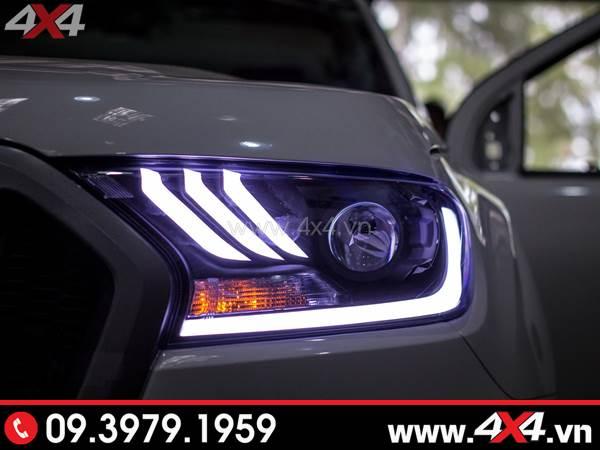 Photo đồ chơi xe Ford Ranger: Combo Đèn mắt quỷ, mí led, vòng Angel eyes mẫu Ford Mustang 3D thay đẹp và đẹp cho xe off road Ford Ranger 2019 tại Tp Hồ Chí Minh