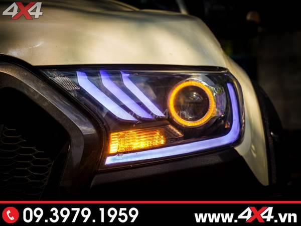 Hình ảnh cách tăng độ sáng cho Ford Ranger: Độ Bi Xenon giúp tăng sáng đèn pha hiệu quả nhất cho xe off-road Ford Ranger 2018