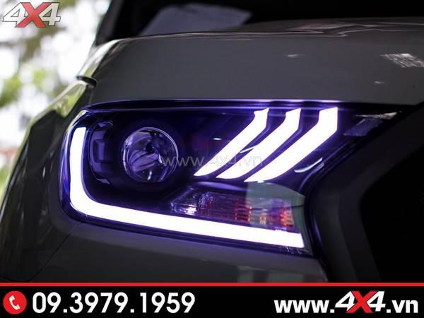 Photo đồ chơi xe Ford Ranger Combo Đèn mắt quỷ, mí led, vòng Angel eyes mẫu Ford Mustang 3D thay đẹp và nổi bật cho xe off-road Ford Ranger ở Tp Hồ Chí Minh