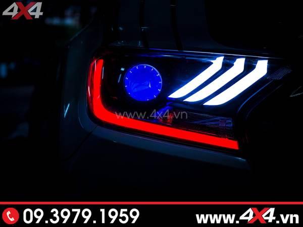 Hình ảnh đồ chơi xe Ford Ranger: Combo Đèn mắt quỷ, mí led, vòng Angel eyes mẫu Ford Mustang 3D lắp đẹp và đẹp cho xe off-road Ford Ranger 2019 2018 ở Tp.HCM