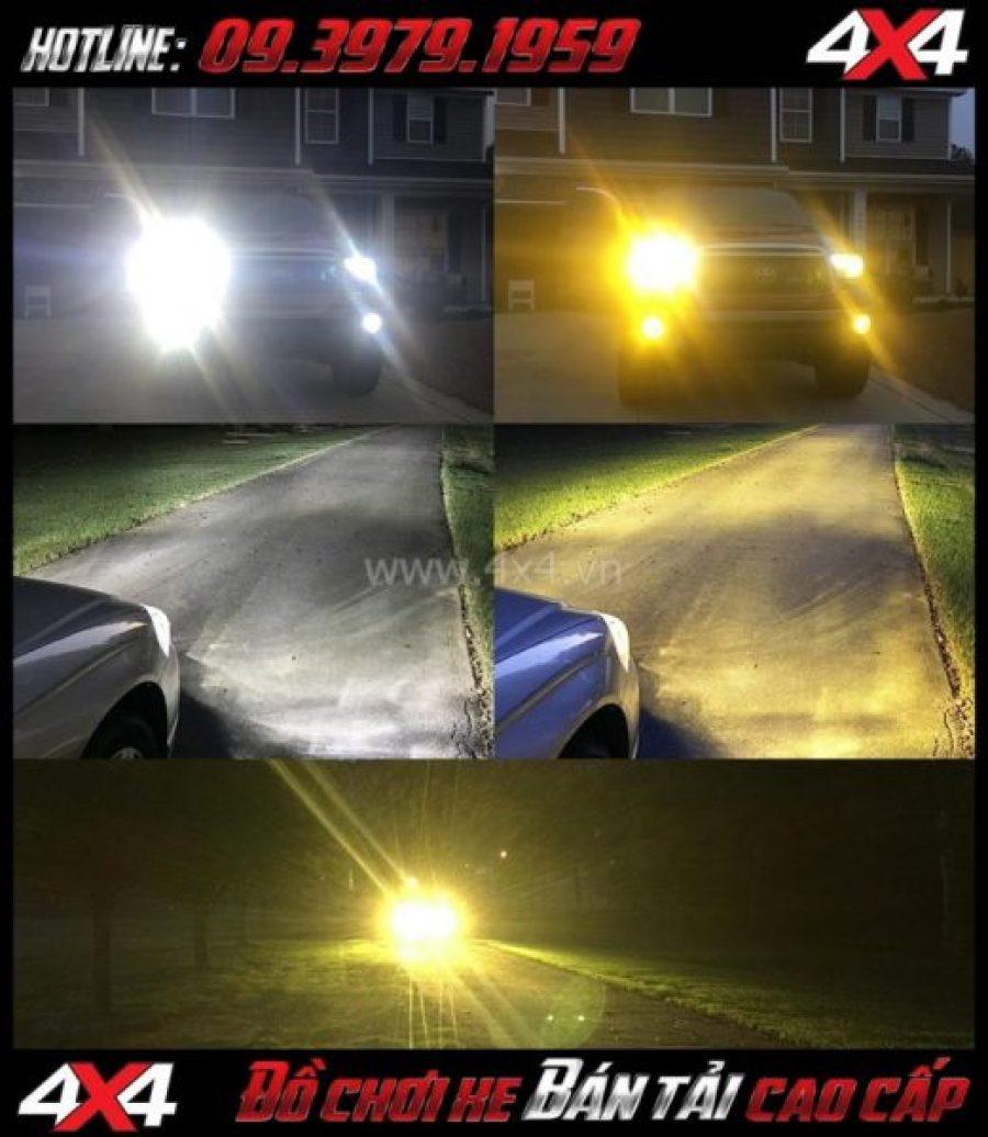 Photo cách tăng độ sáng cho Ford Ranger 2019 2018: Thay bóng Lumiled Philip, Osram cho đèn pha xe pick-up Ford Ranger 2018