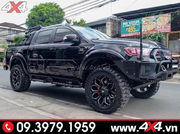 Đồ chơi xe Ford Ranger: Mâm Fuel Assault đen độ đẹp và chất cho xe bán tải 2018 2019