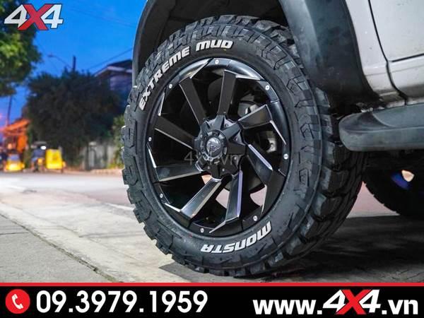 Đồ chơi xe Ford Ranger: Mâm Fuel Razor cứng cáp và độ đẹp dành cho xe bán tải