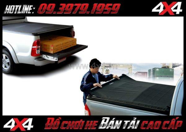 Image nắp thùng xe bán tải: Nắp thùng mềm giá rẻ độ đẹp cho xe pickup tại Sài Gòn