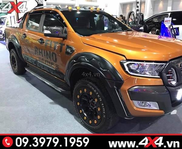 Ốp viền bánh xe FITT Thái Lan răng cưa độ đẹp và ngầu cho xe bán tải