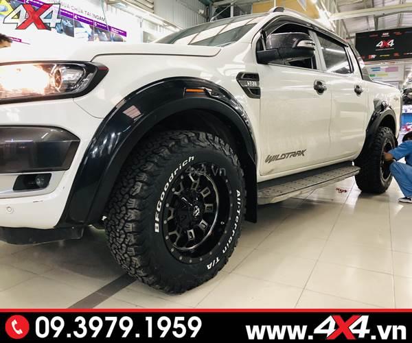 Ốp cua lốp Ranger FITT trơn đẹp, và ngầu độ xe bán tải Ford Ranger