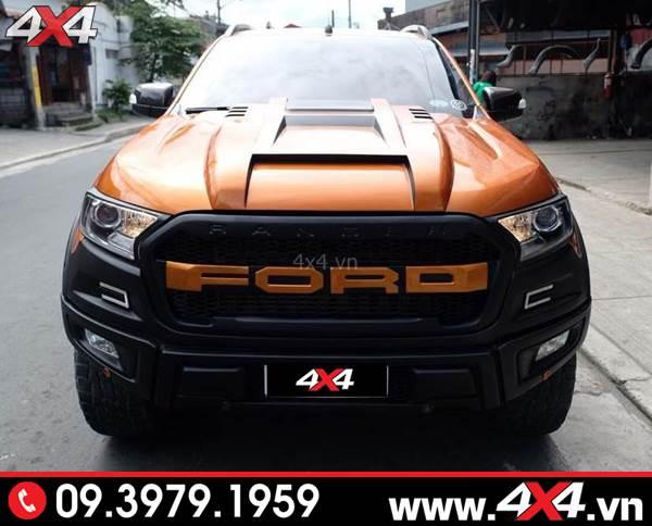 Đồ chơi xe Ford Ranger: Ốp nắp capo độ đẹp, ngầu và chất dành cho xe bán tải Ford Ranger