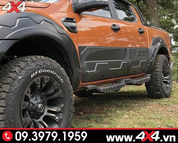 Đồ chơi xe Ford Ranger: Ốp sườn bản lớn độ hầm hố cho xe bán tải Ford Ranger 2018 2019