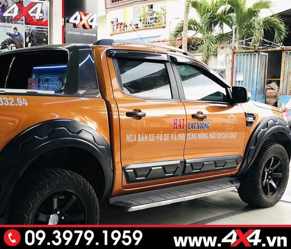 Đồ chơi Ford Ranger: Ốp sườn bản nhỏ độ đẹp và cứng cáp cho xe bán tải