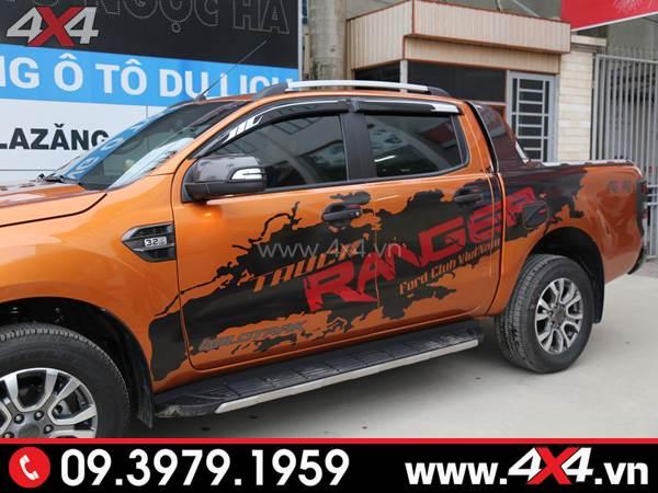 Đồ chơi xe Ford Ranger - Chiếc Ford Ranger 2018 2019 màu cam lên tem Ranger đẹp và độc đáo